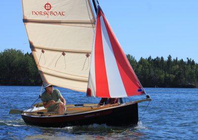 small sailing and rowing boat